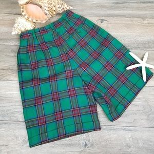 Talbots Shorts - Vintage Talbots pleated plaid wool shorts Sz 6